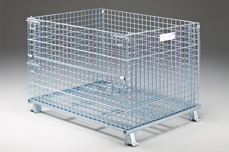 Metal Wire Mesh Galvanized Containers | Direct Metals