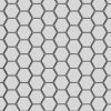 "0.25"" Hexagonal 0.28125"" Staggered Centers 20 Gauge (AL) Perforated Metal"